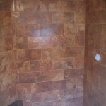 Porcelain subway shower in Red Feather Lakes, Colorado