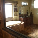 Dark Brown Porcelain Bath in Windsor, Colorado
