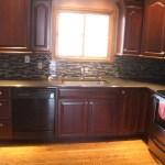Glass tile kitchen backsplash in Fort Collins, CO
