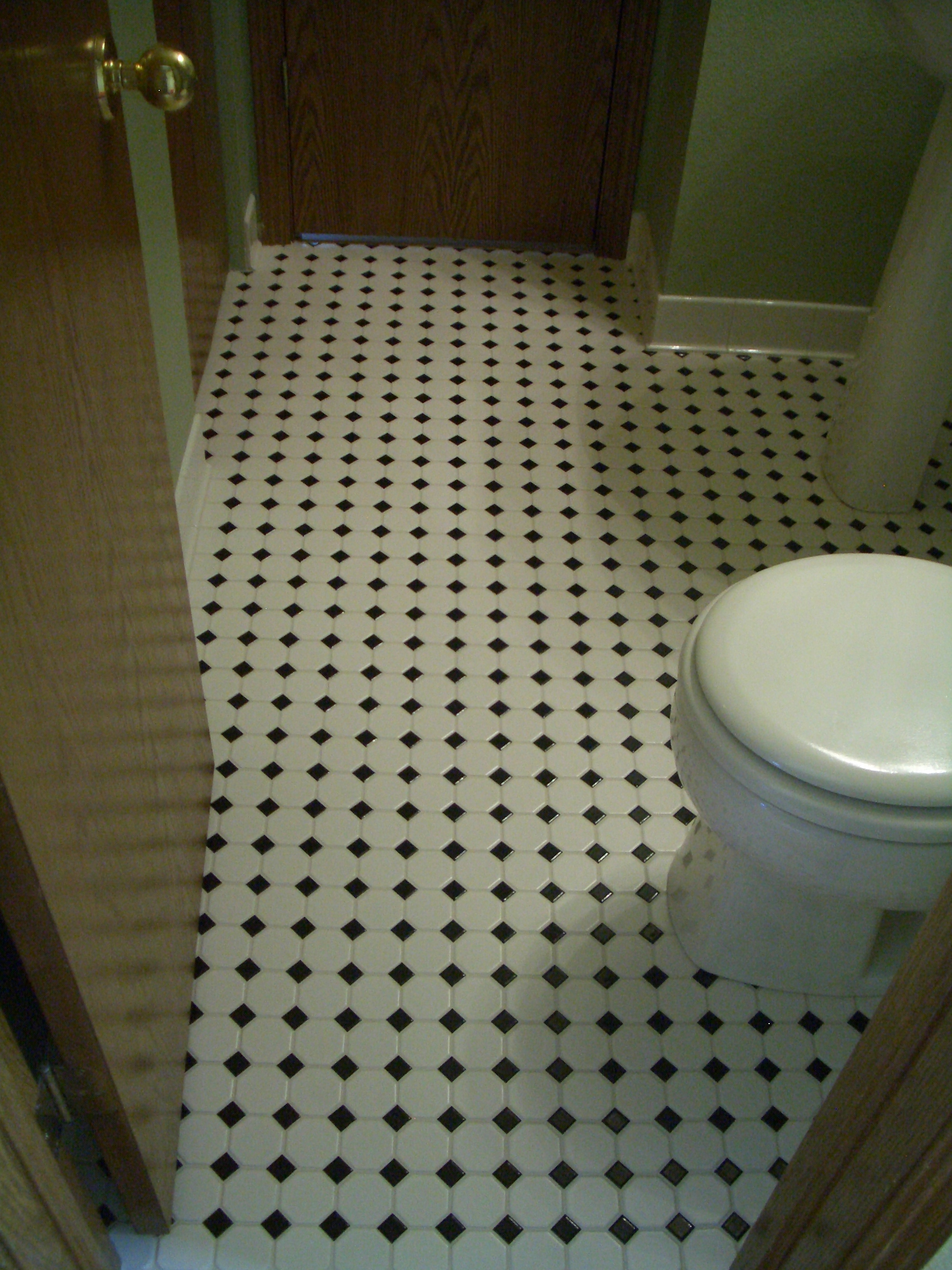 Octagonal mosaic tile floors with black dot in northern colorado octagonal mosaic tile floor installation with black dot in northern colorado dailygadgetfo Choice Image