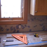Installing Porcelain and Glass Backsplash