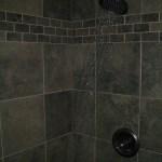 Slate-like porcelain kerdi shower in Ft. Collins, CO