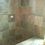 Honed Slate master bathroom shower