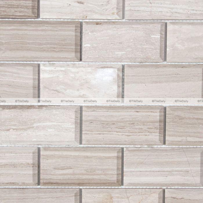 beveled marble brick mosaic