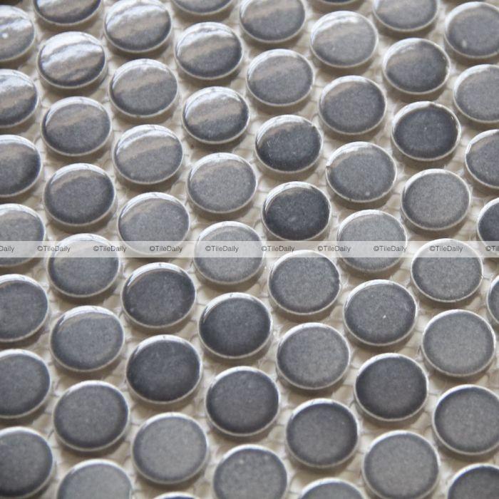 gradient grey penny round