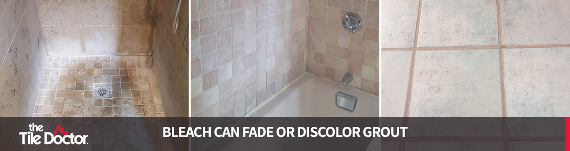 will bleach discolor grout tile doctor