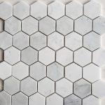 Starstile 2 Hex Carrara Marble Honed Tileforless