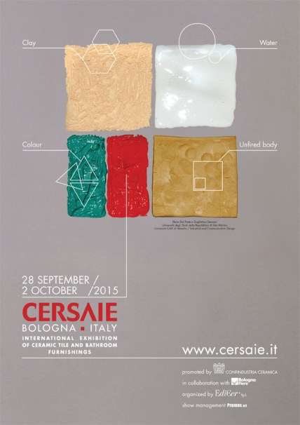 The image for the 33rd edition of Cersaie was designed by Elena Del Prete and Guglielmo Gennari.
