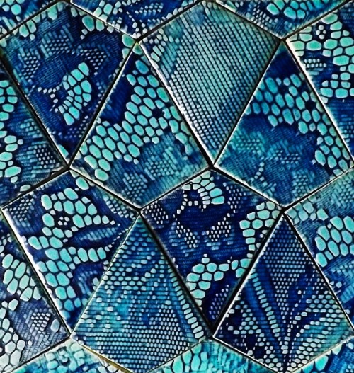 CONDESA Blue and Aquamarine Kite Shaped Tiles by Guy Mitchell Design