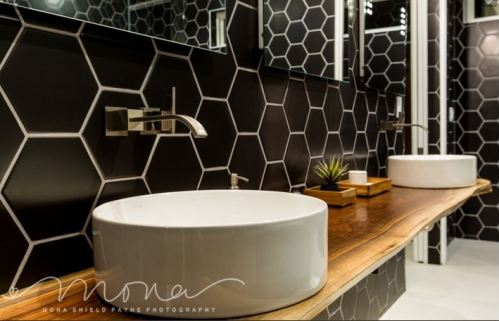 Tile played a crucial role in these sustainable and eco-friendly homes. Photo courtesy of Mona Shield Payne Photography.