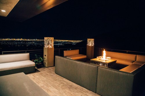 Stunning view from the outdoor living area. Image courtesy of The New American Home.