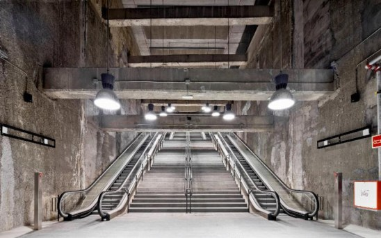 First prize: Three metro stations on Barcelona's L9 line by Garces - de Seta - Bonet Arquitectes. Photograph: Adria Goula.
