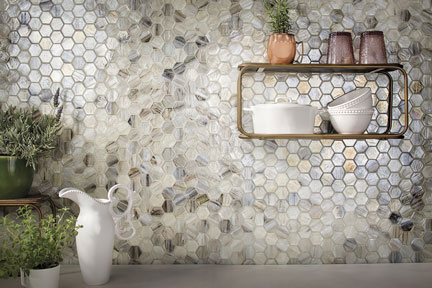 Lunada Bay Tile's Luce Hex in Sugar Cake
