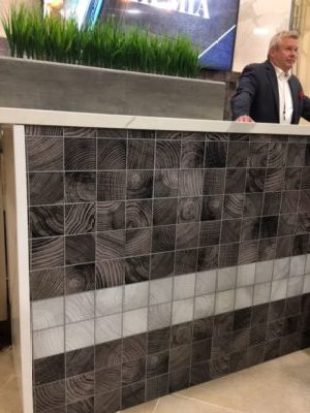Convergence glass tile from Crossville, Inc.