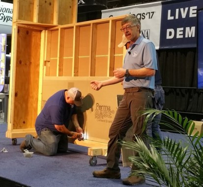 Robb Roderick and Mark Heinlein on Install Demo Stage