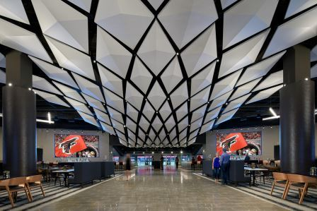 COMMERCIAL WINNER | 2019 Ceramics of Italy Tile Competition Firm: tvsdesign Project: Mercedes-Benz Stadium Photographer: Brian Gassel