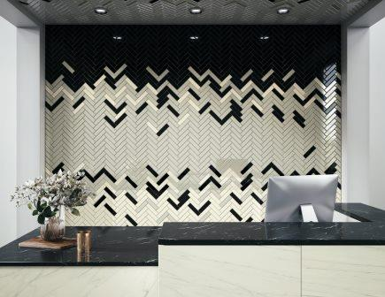 Hotel Lobby with Swatches wall tile by Crossville Inc.
