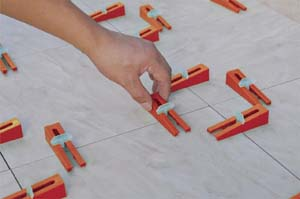 dta wedge lippage leveling system for large format thin tile spacers