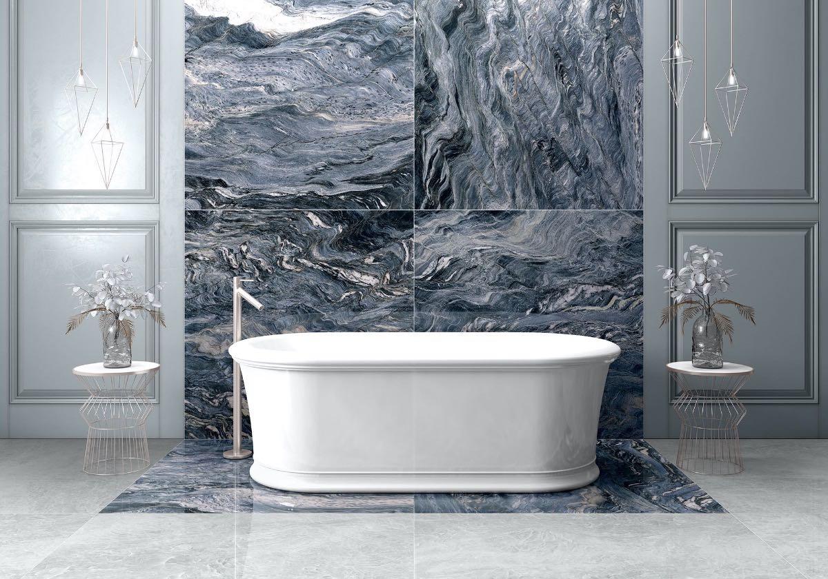 blue porcelain tile bathroom photos