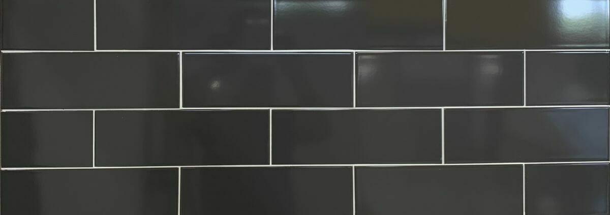 4x12 dark grey subway tile tiles