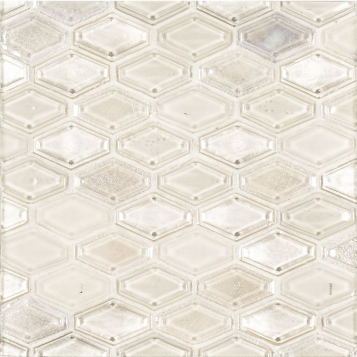 suite glass champagne beveled elongated hexagon