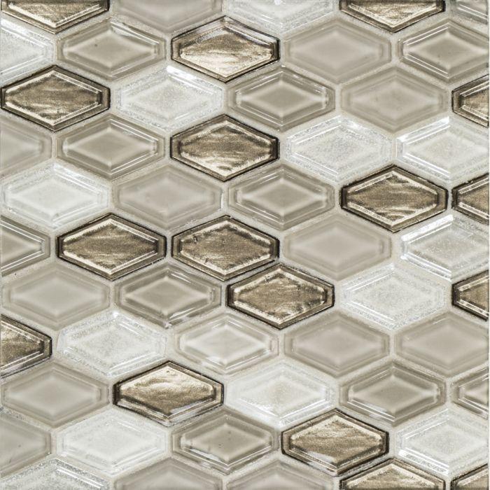 suite glass hazel beveled elongated hexagon