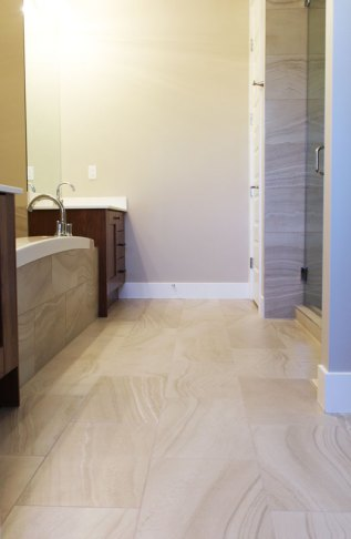 Riviera Lune installed in a bathroom