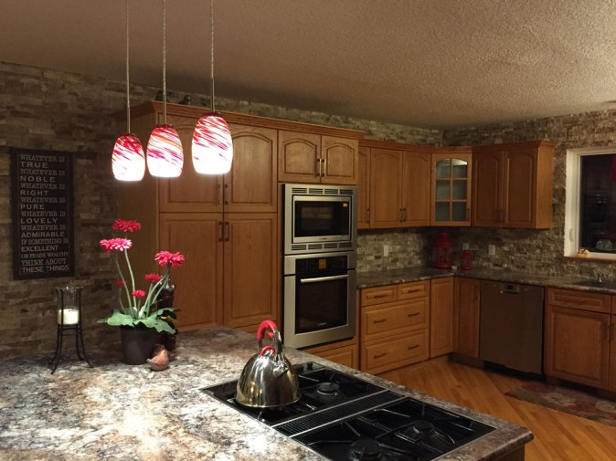 Cosme ledgestone kitchen backsplash