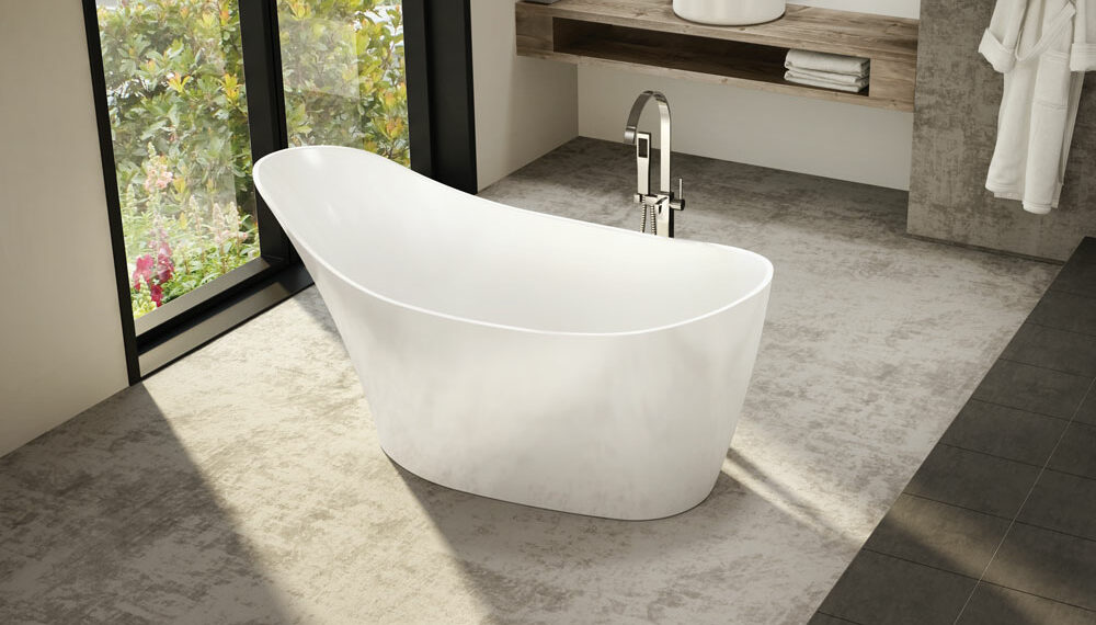 New Fleurco Aria Molto freestanding tub