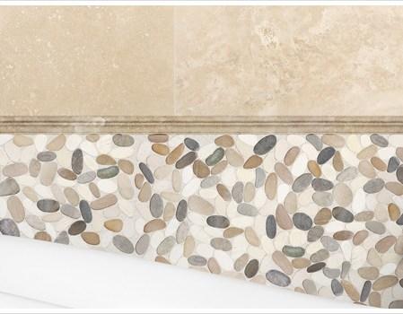 Bali Harmony Warm Blend Flat Stone Mosaic Installed