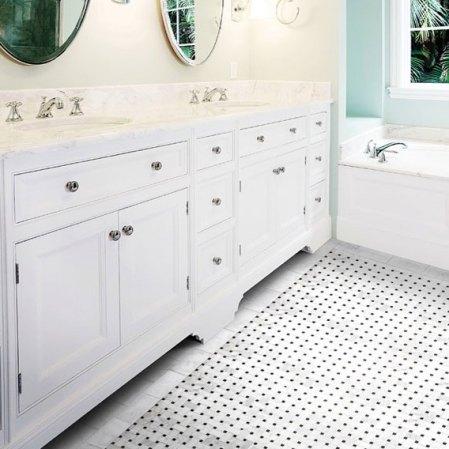 Bianco Cobalt Basketweave Mosaic