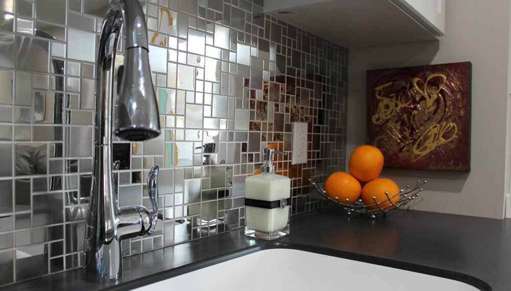 Stainless Steel Backsplash installed in the main kitchen at Recovery Acres