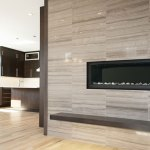 Wooden White Limestone Tile installed on a fireplace