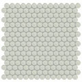 Element Sand Penny Round Glass Mosaic