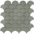 Element Smoke Scallop Glass Mosaic