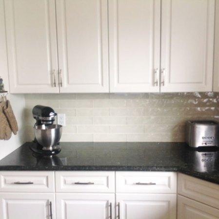 Element Sand Artisan Tile installed in a kitchen