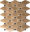 Satin Metal Clipped Diamond Bronze Mosaic