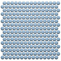 Color Collection Sky Blue Penny Round Glossy