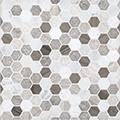 "Jeffrey Court Pattern C 1"" Hexagon Honed"