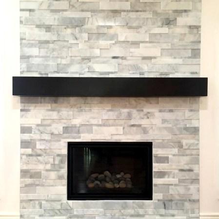 Bianco Cobalt Cubic Fireplace Installation