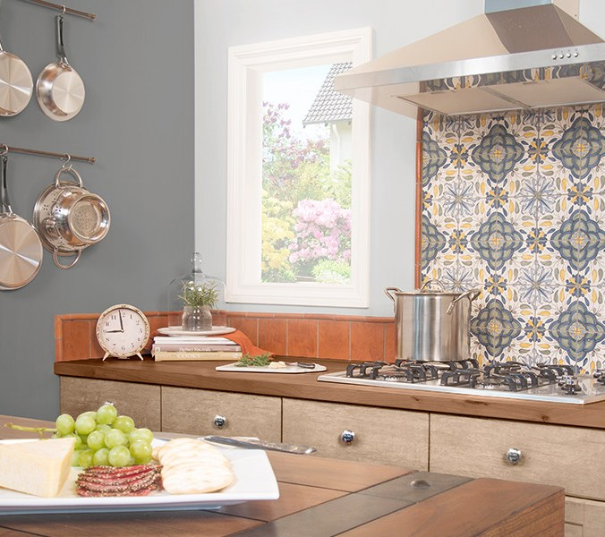 5x5 Algarve Pattern Traditional Backsplash