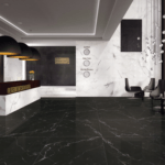 Nero Marmo Polished Porcelain installed in a hotel