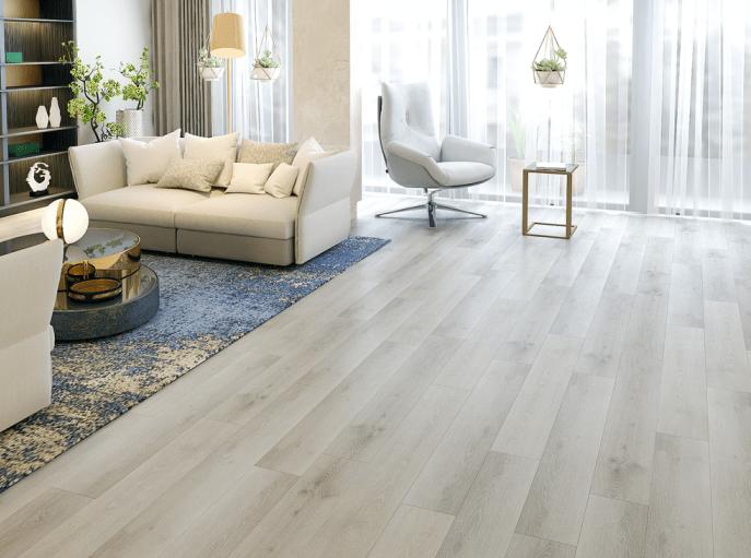 SPC flooring installation image