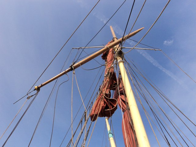 Broken mast
