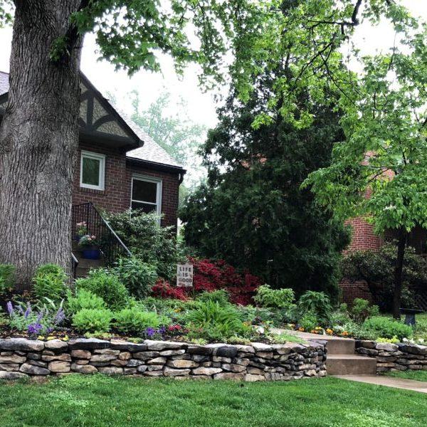 Western Maryland garden stone wall