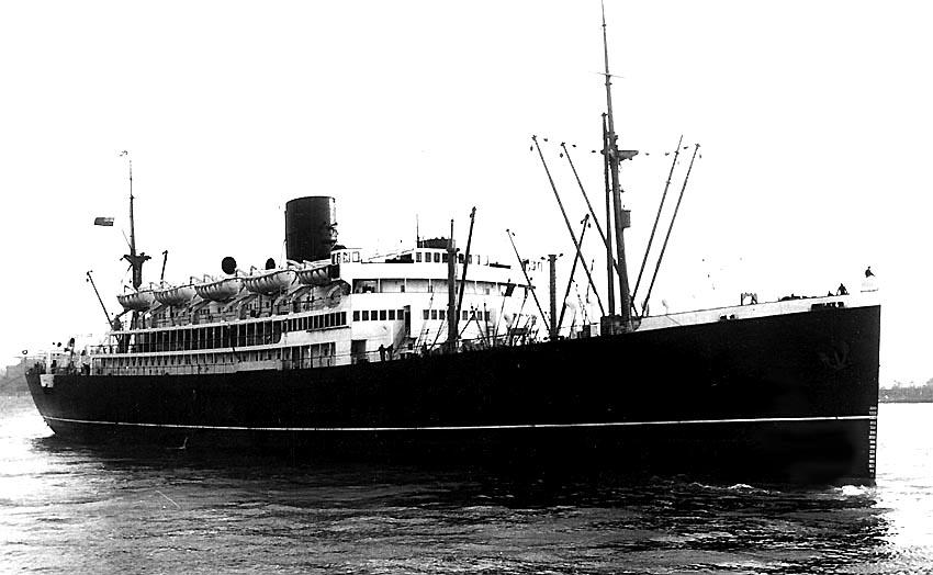 RMS Circassia at anchor