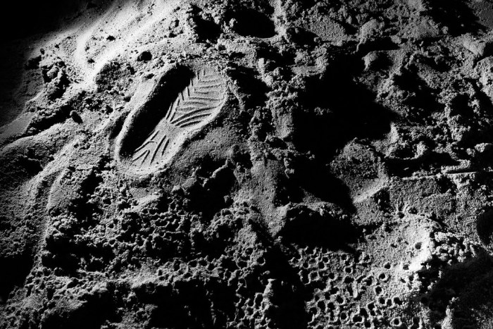 """A footprint on the moon The Eagle has landed..."""" by [-ChristiaN-] is licensed under CC BY-NC-ND 2.0"""