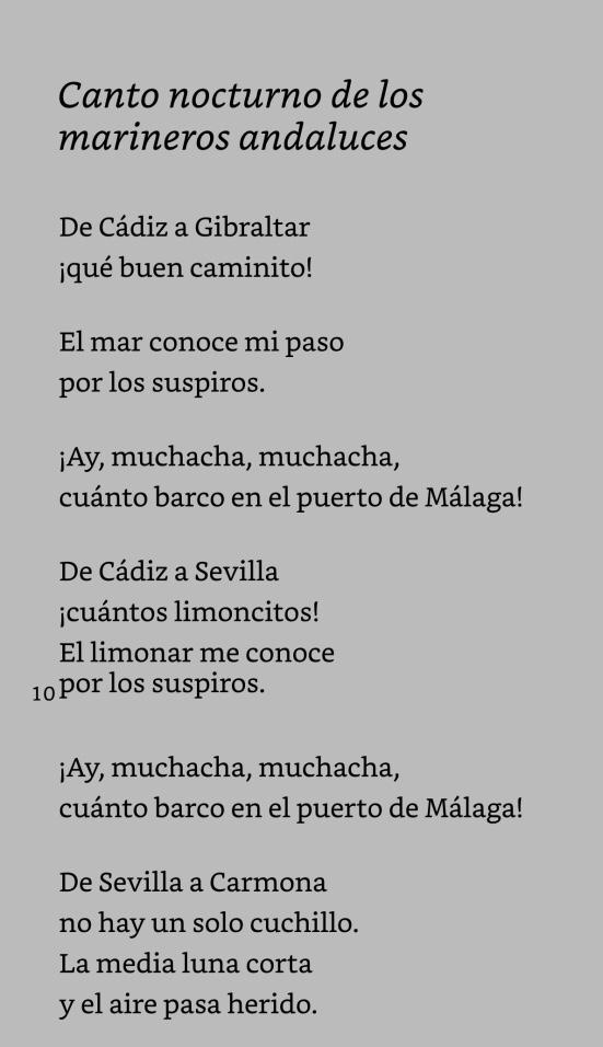 Canto nocturno de los marineros andaluces-