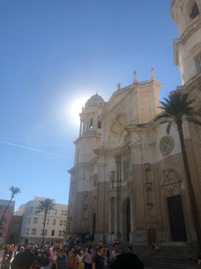 """Cádiz Cathedral (Spanish: Catedral de Cádiz,   known as """"The Cathedral of The Americas"""" because it was built with money from the trade between Spain and America."""
