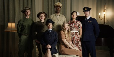 "Nik Morris as ""Wilson"", Sally McLean as ""Elsie"", Christopher Kirby as ""Captain Johnson"", Jessica To as ""Qingshan"", Billy Smedley as ""Andrew"", Nadine Garner as ""Emily"" and Sarah Hallam as ""Anne"" during filming"